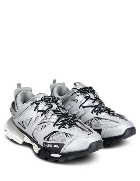 Balenciaga Men's Giulio Fashion Silver Track Sneakers 542023W2CD18100