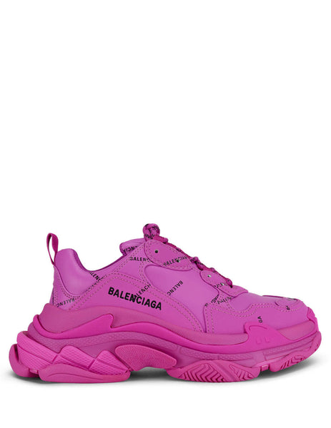 Balenciaga Women's Giulio Fashion Pink/Black Triple S Sneakers 524039W2FA15210
