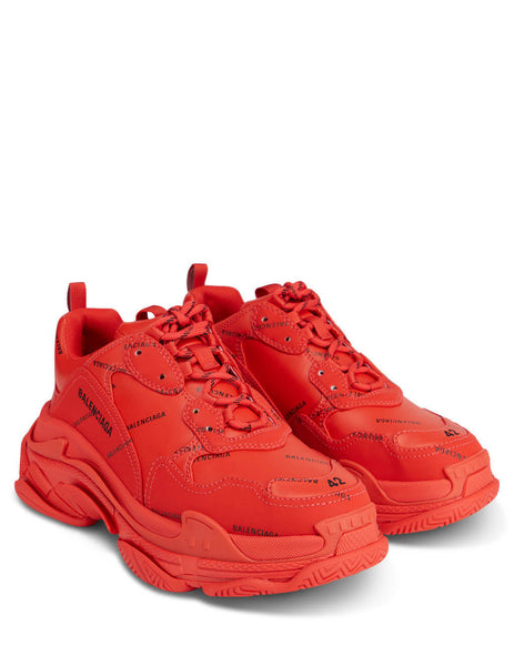 Men's Red Balenciaga Triple S Sneakers 536737W2FA16010