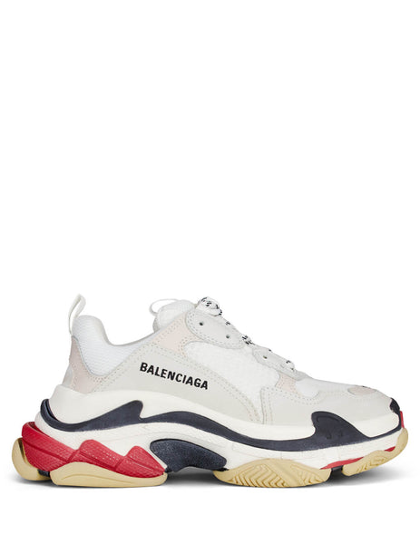 Balenciaga Women's Giulio Fashion White/Red Triple S Sneakers 524037W09E19000