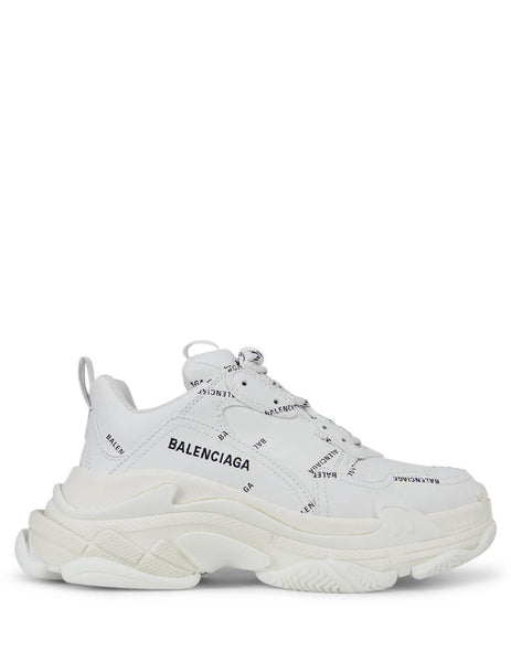 Women's White Balenciaga Triple S Sneakers 524039W2FA19010