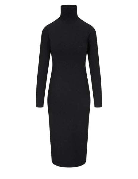 Balenciaga Women's Black Turtleneck Dress 641556TJV861069