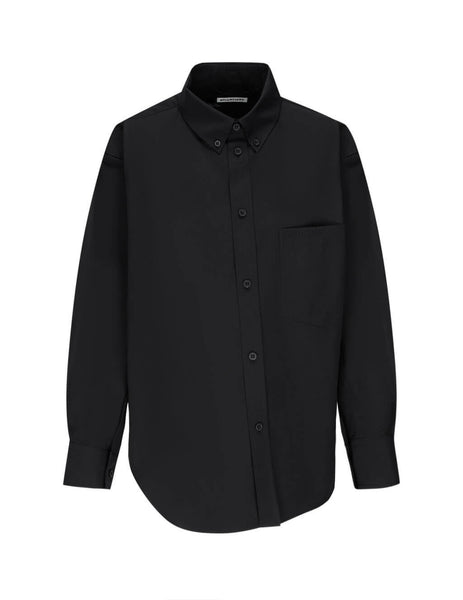 Women's Black Balenciaga Twisted Shirt 621896TIM391000
