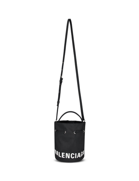 Women's Black Balenciaga Wheel XS Bucket Bag 619458H852N1000