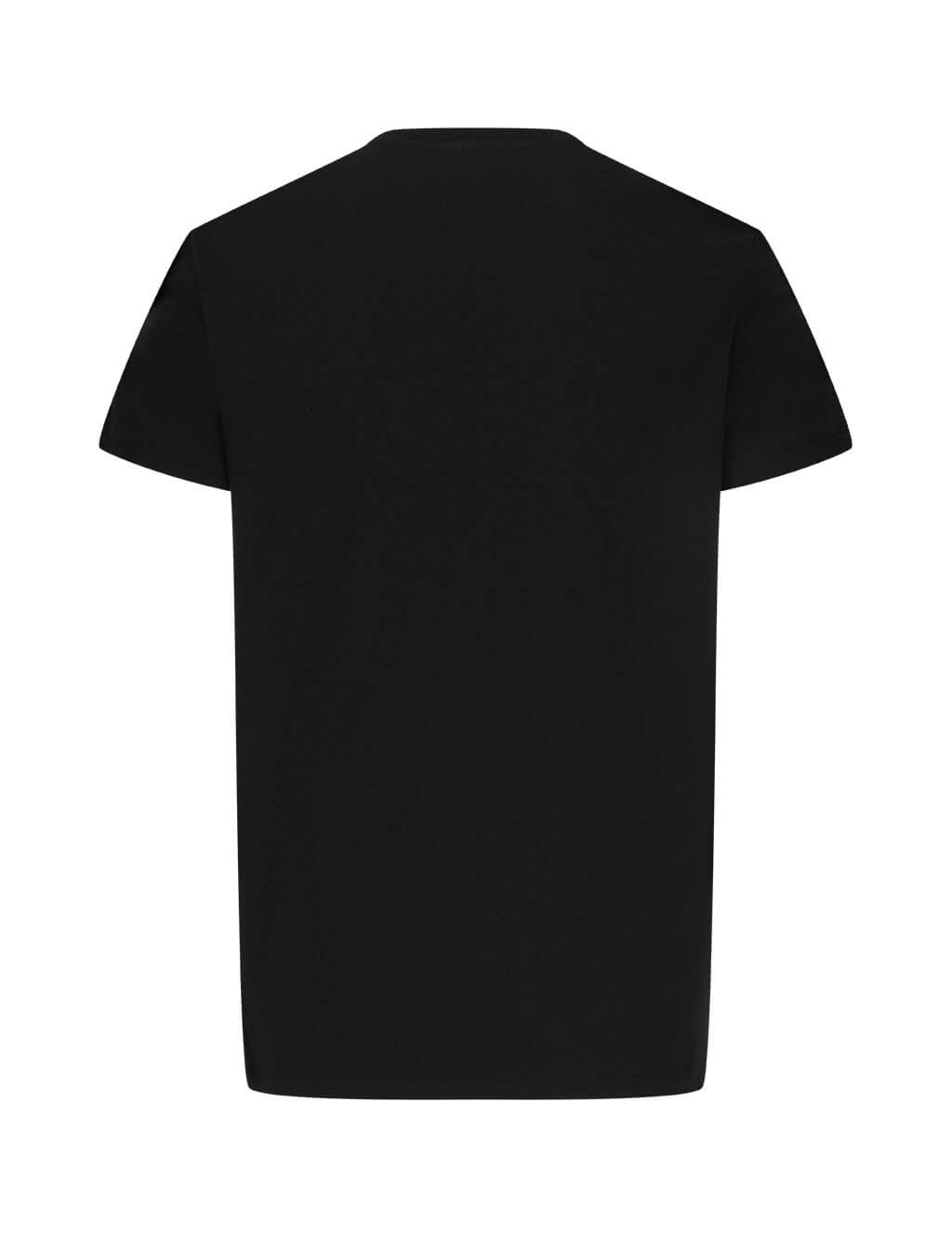 Balmain Men's Giulio Fashion Black Multicolour Logo Print T-Shirt UH11601I311AAA