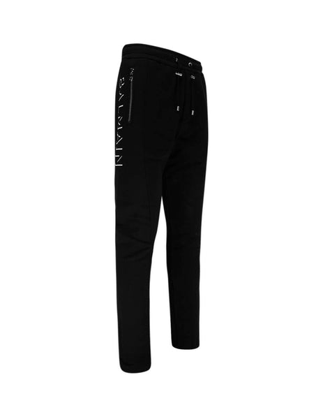 Balmain Men's Giulio Fashion Black 3D Low Crotch Sweatpants UH15462I3640PA