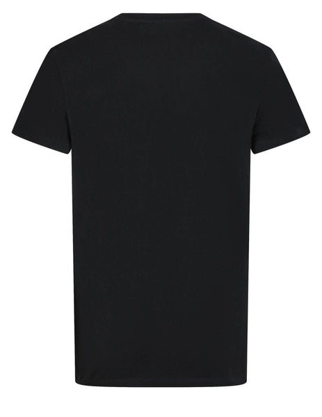Men's Balmain Crest Printed T-Shirt in Black - VH0EF000G055EAH