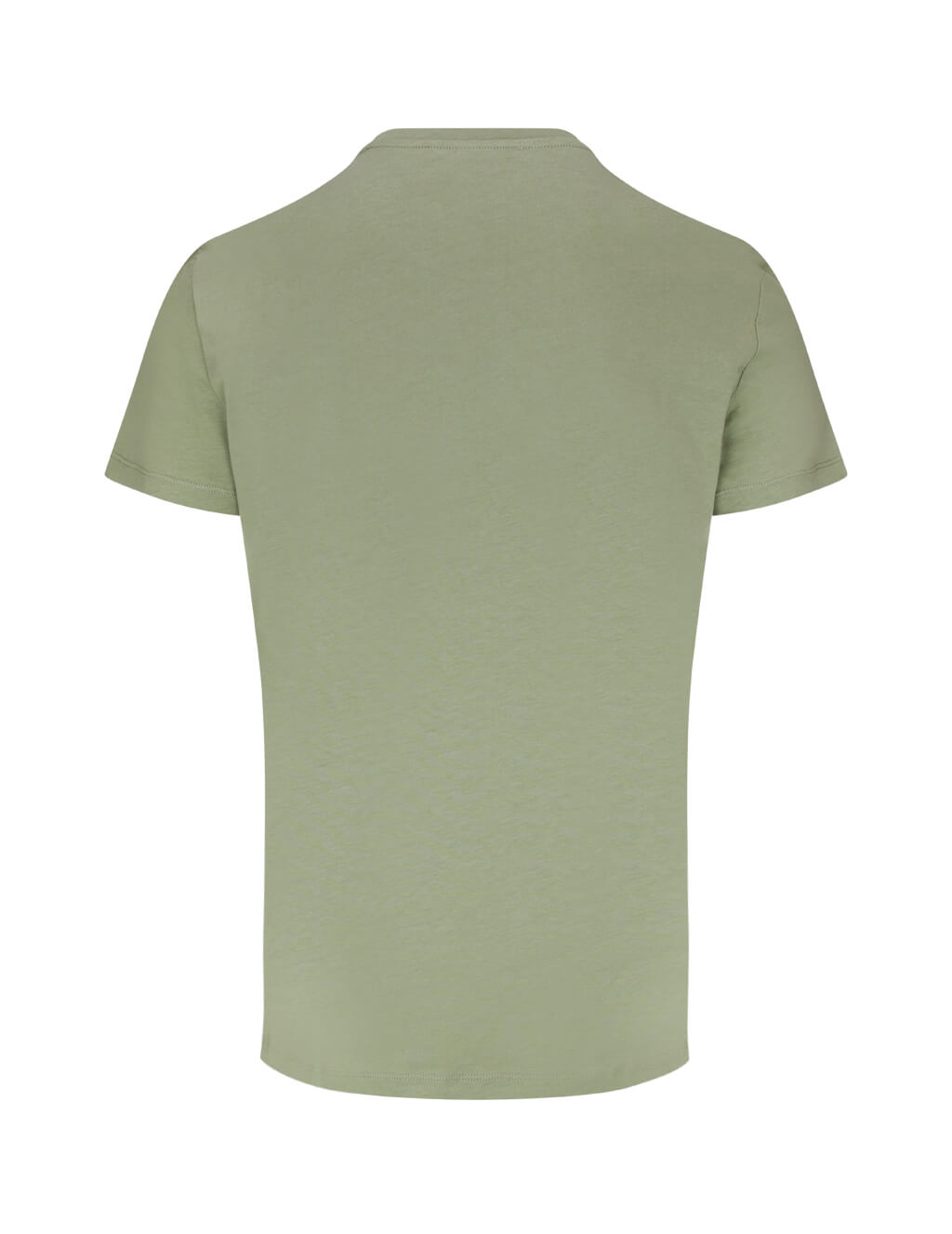 Balmain Men's Khaki Flock Cotton T-Shirt TH11601I2017UA