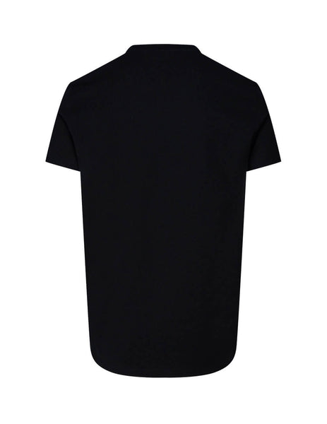 Balmain Men's Black Foil Print T-Shirt UH01601I371AAA