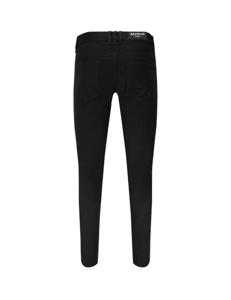 Balmain Men's Black Slim Jeans UH15230Z0170PA
