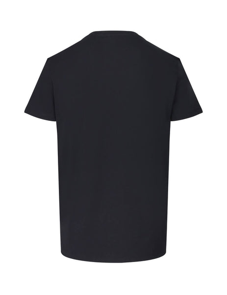 Balmain Men's Giulio Fashion Black Tagged Balmain T-Shirt SH01601I2560PA