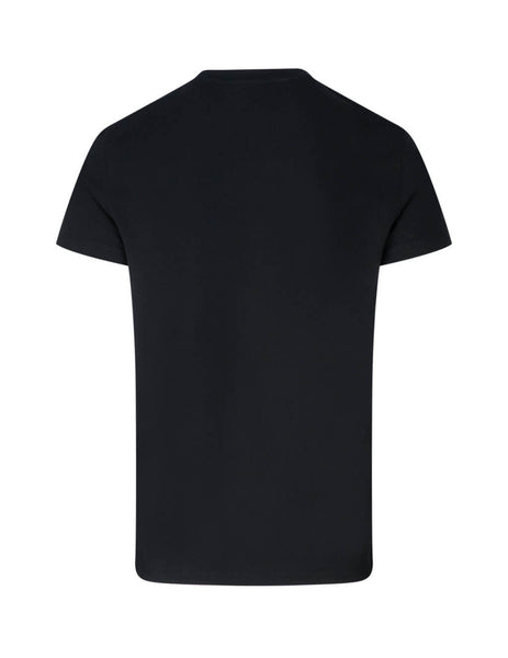 Balmain Men's Black Wolf Tee UH11601I307EAB