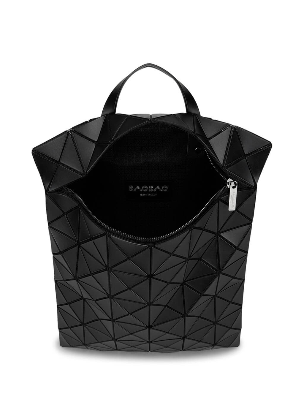 Women's Matte Black BAO BAO ISSEY MIYAKE Lucent Flat Backpack BB06AG691-16
