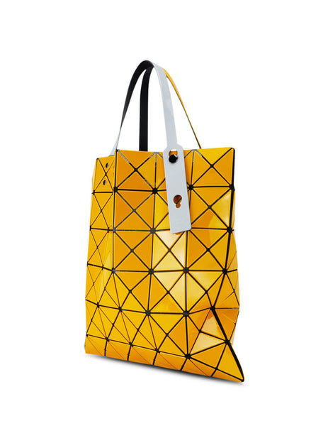 BAO BAO ISSEY MIYAKE Women's Giulio Fashion Yellow Lucent Gloss Tote Bag BB98AG61352