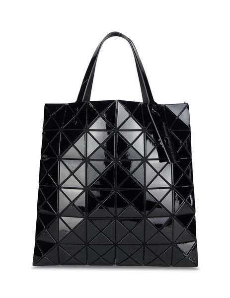 BAO BAO ISSEY MIYAKE Women's Giulio Fashion Black Lucent Tote Bag BB08AG05115