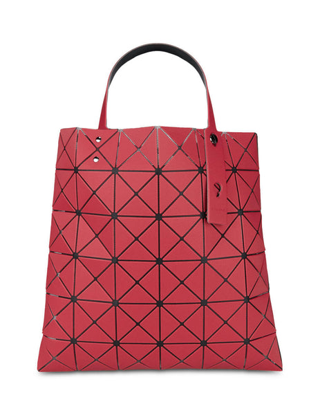 BAO BAO ISSEY MIYAKE Women's Giulio Fashion Red Lucent Twill Tote BB98AG63324