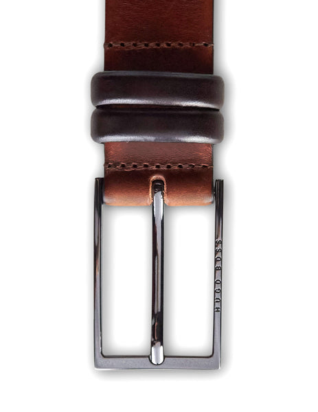 BOSS Men's Medium Brown Carmello Two Tone Leather Belt 50239979 214
