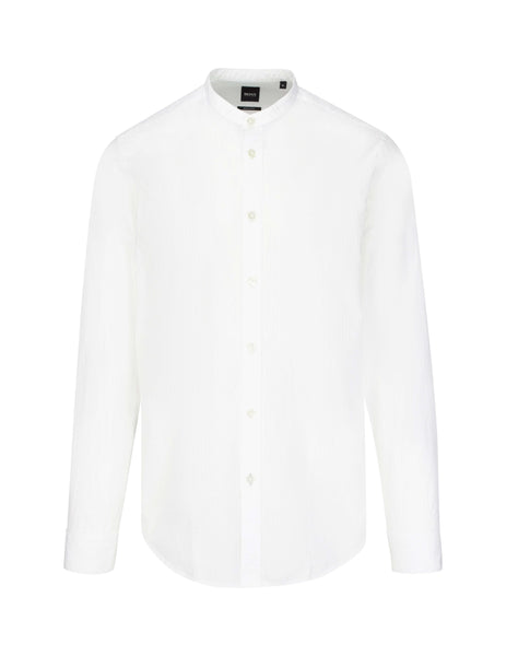 BOSS Men's Giulio Fashion White Lamberto Shirt 50410621100