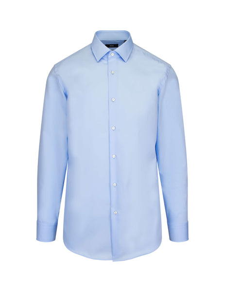 BOSS Hugo Boss Slim-Fit Cotton Shirt Pastel Blue 50327693450 Men's Giulio Fashion