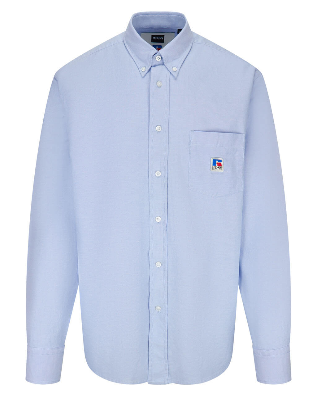 BOSS x Russell Athletic Men's Blue Nambeth Shirt 50457438 492