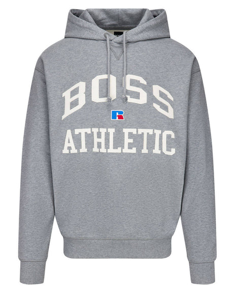 BOSS x Russell Athletic Men's Grey Safa Hoodie 50455955 034