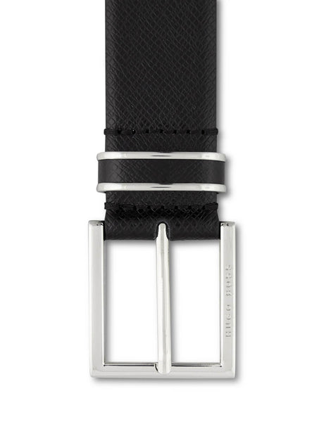 BOSS Men's Giulio Fashion Black Leather Canzio Belt 50397961001