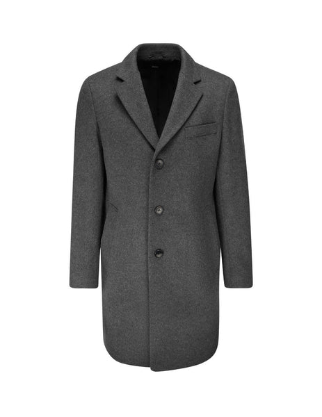 BOSS Men's Giulio Fashion Grey Formal Single-Breasted Coat 50394082030