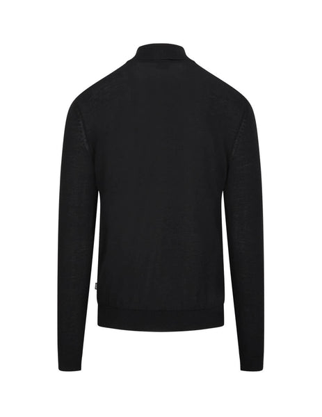 mens boss musso turtleneck jumper in black 50392083001