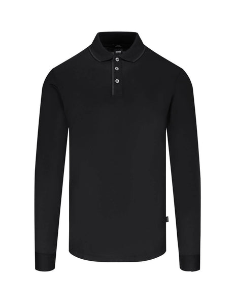 BOSS Men's Black Paver 15 Polo Shirt 50438245 001