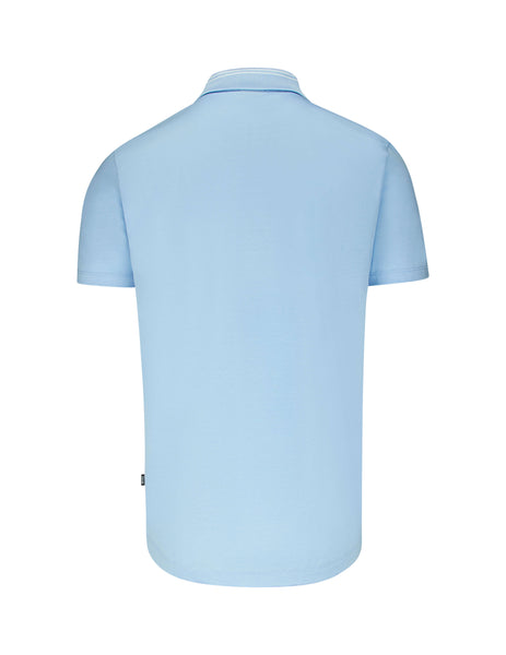 BOSS Men's Giulio Fashion Light Blue Plater 10 Polo Shirt 50409409450