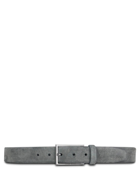 BOSS Men's Giulio Fashion Dark Grey Soft Suede Belt 50375225023