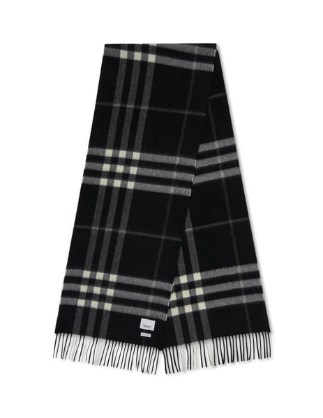 Burberry Women's Black Classic Check Cashmere Scarf 8015537 A1189