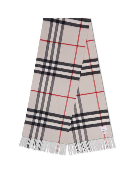 Burberry Women's Stone Classic Check Cashmere Scarf 8015533 A5129