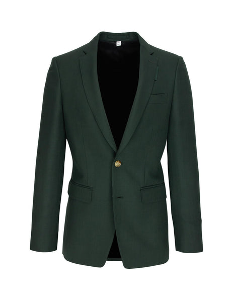 Burberry Men's English Fit Wool Mohair Tailored Jacket in Dark Forest Green 8023683 A1472