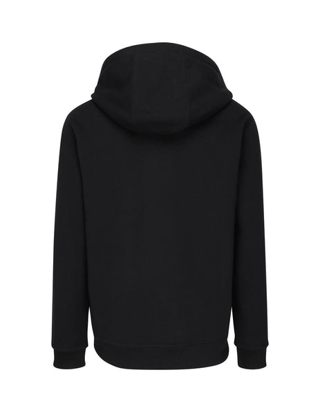 Burberry Men's Black Graphic Logo Hoodie 8022306 A1189