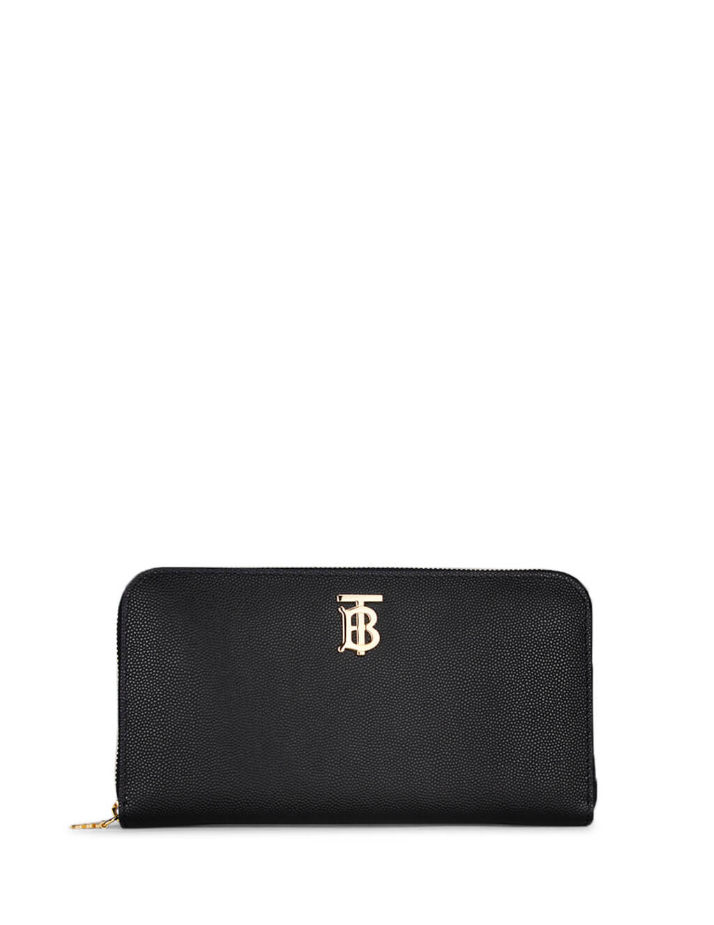 Burberry Women's Black Leather Monogram Ziparound Wallet 8023297a1189