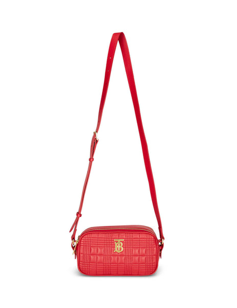 Burberry Women's Red Leather Quilted Camera Bag 8023340 A1460