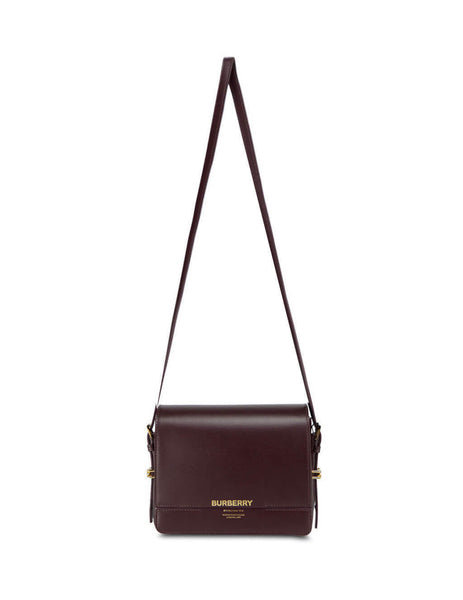 Women's Oxblood Burberry Small Grace Leather Bag 8011975 A1308