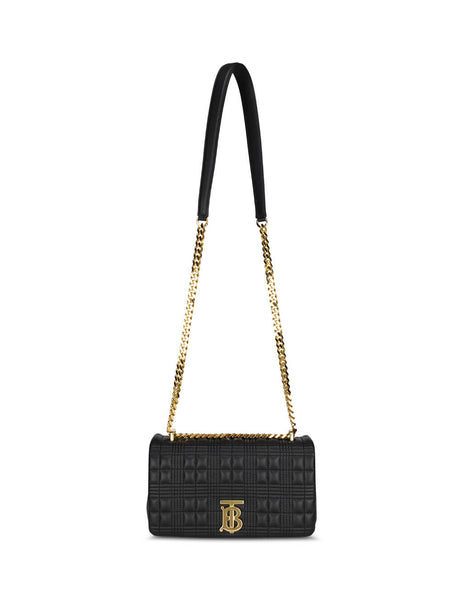 Burberry Women's Black Leather Small Quilted Lola Bag 8021492 A7300