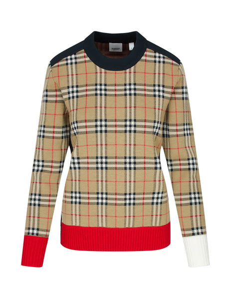 Burberry Women's Giulio Fashion Archive Beige Vintage Check Knit 8024065 A7026