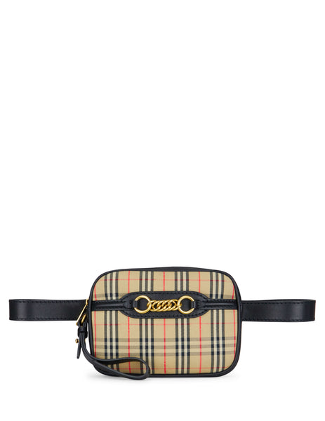 Burberry Women's Giulio Fashion Black 1983 Check Link Bum Bag 8007350A1189