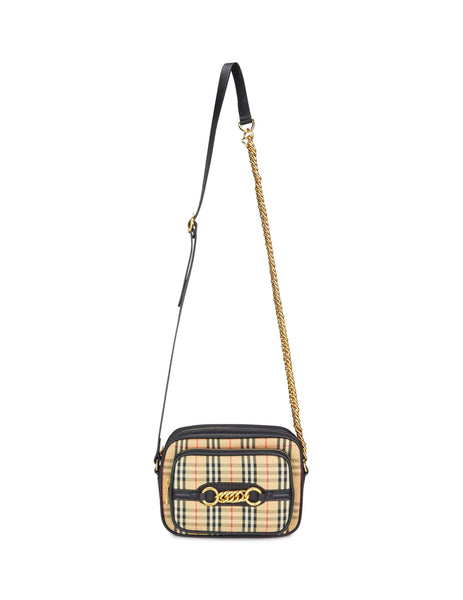 Burberry Women's Giulio Fashion Black & Brown 1983 Check Link Camera Bag 407988000100