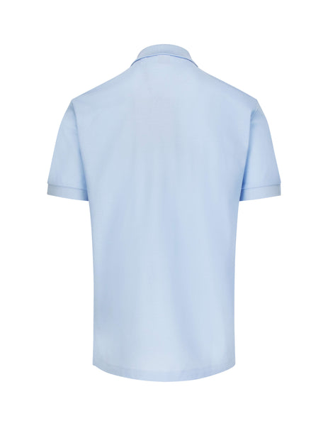 Burberry Men's Giulio Fashion Pale Blue TB Polo Shirt 8014316A1397