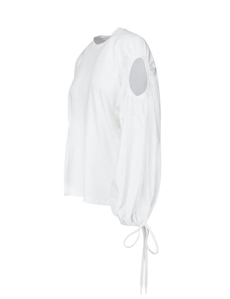 Burberry Women's Giulio Fashion White Balloon Sleeve Shirt  4564234 A1462