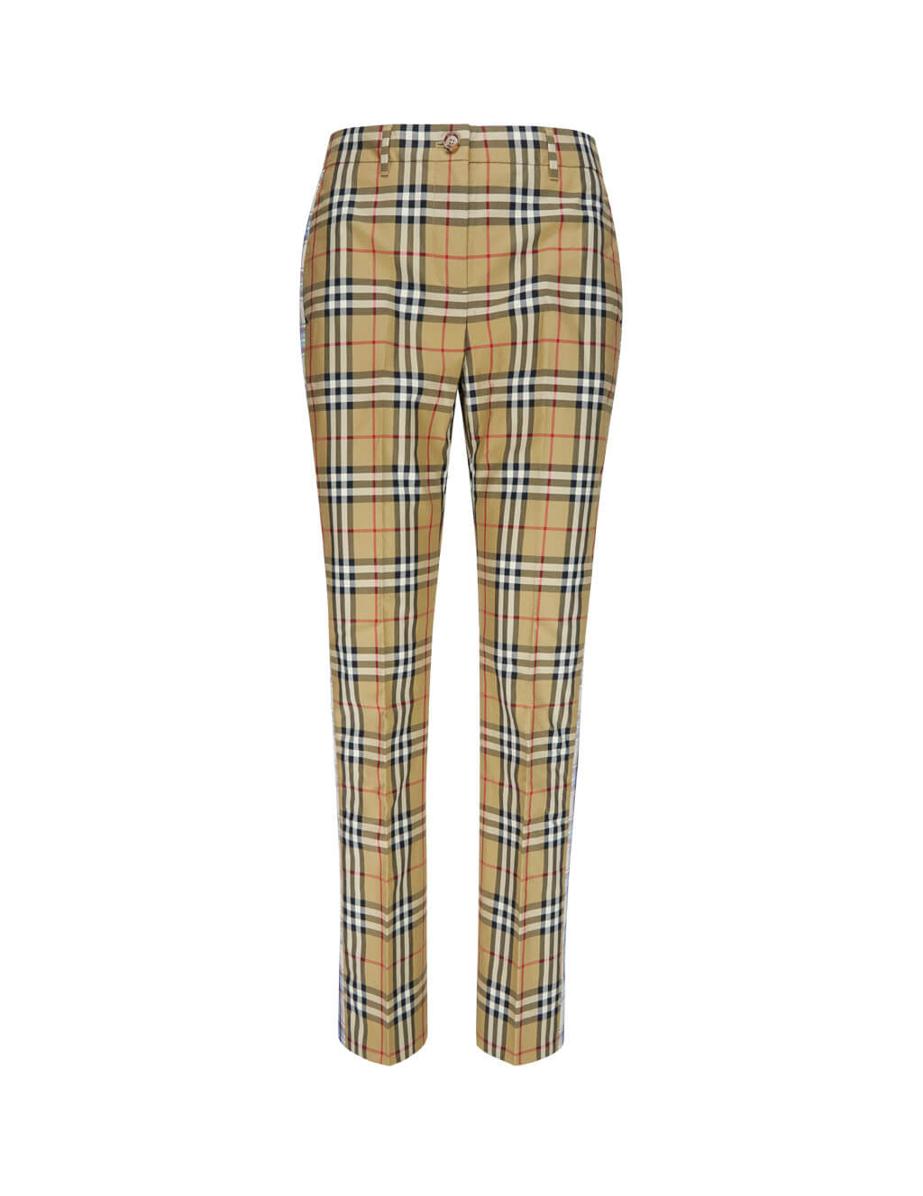Burberry Women's Giulio Fashion Beige Contrast Check Trousers 8016903A7026
