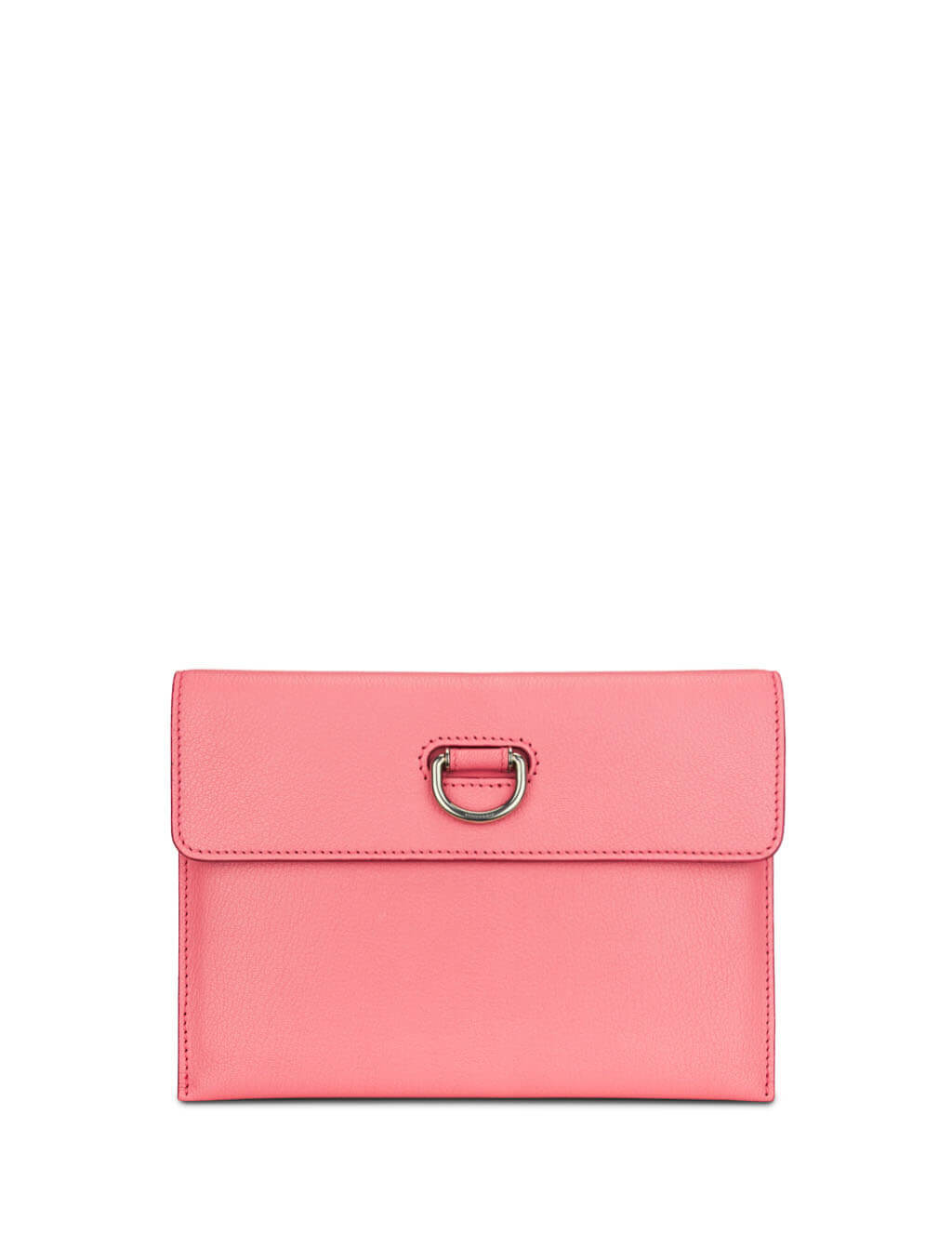 Burberry Women's Giulio Fashion Coral Pink D Ring Leather Pouch With Zip Coin Purse 407503767120