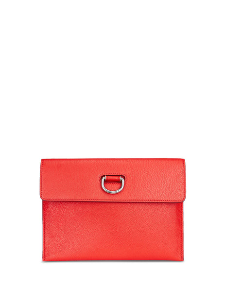 Burberry Women's Giulio Fashion Red D-Ring Leather Pouch With Zip Coin Case 407665762200