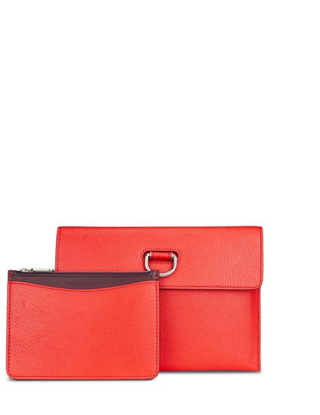 Burberry Women's Giulio Fashion Red D-Ring Leather Pouch 407665762200