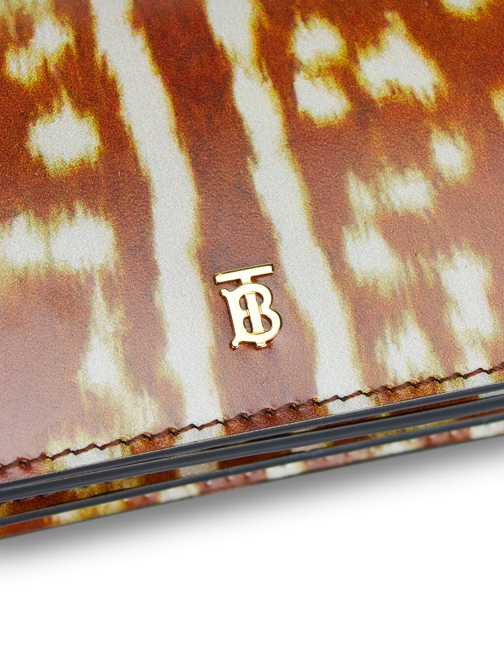 Burberry Women's Brown Deer Pattern Card Case 8016876 A1212