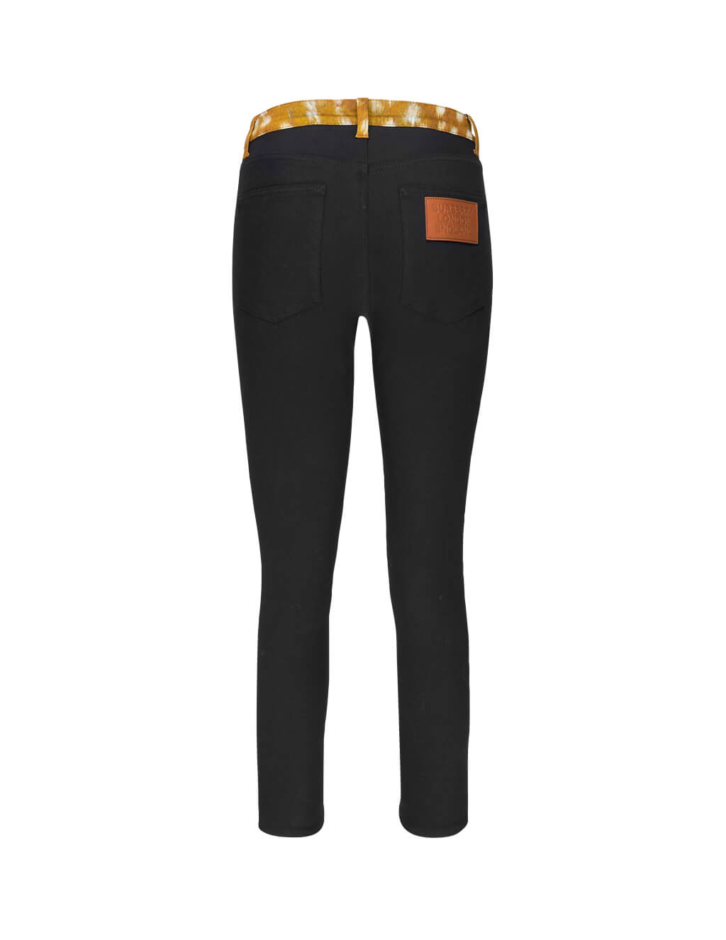 Burberry Women's Giulio Fashion Black Deer Trim Japanese Jeans 8016385A1189